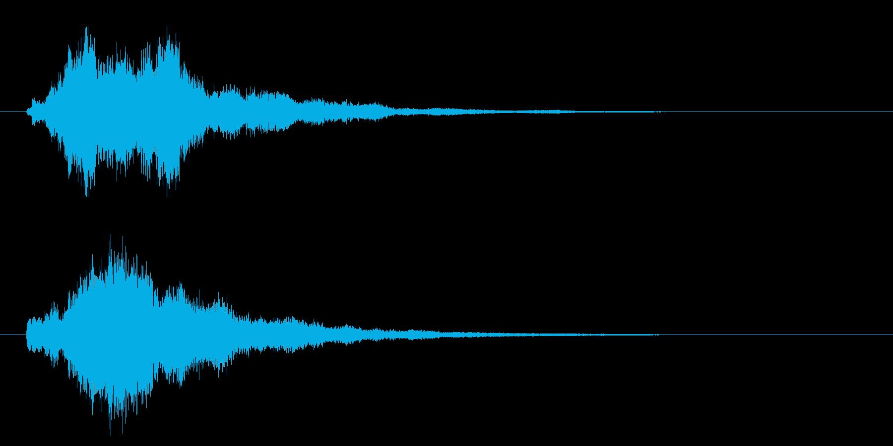 ベル、チャイムの再生済みの波形