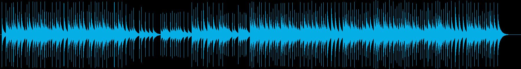落ち着いた可愛らしいオルゴール曲の再生済みの波形