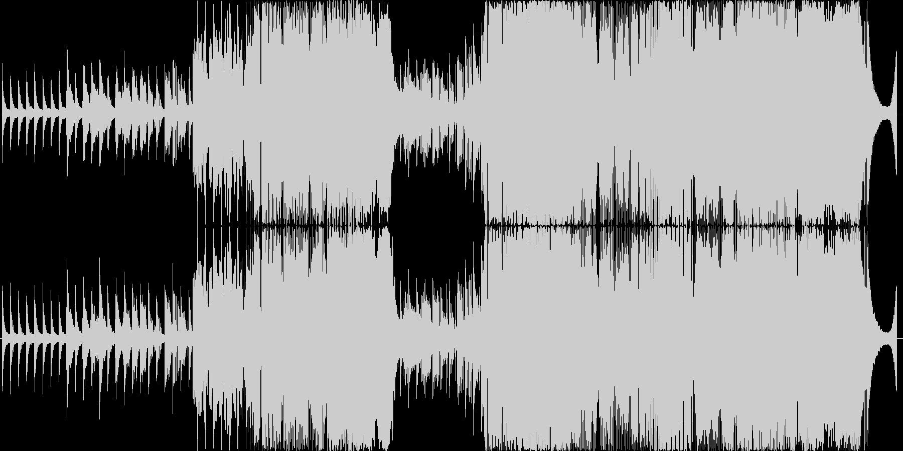 男性目線の切ないラブソング、生演奏の未再生の波形