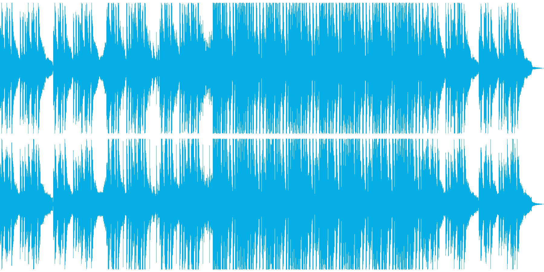 夏のトロピカルでゆったりとしたダンス楽曲の再生済みの波形