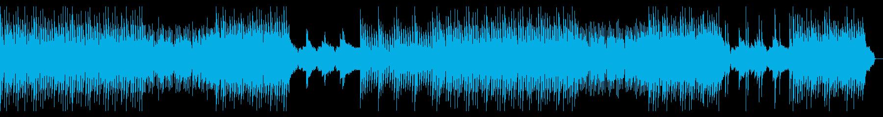ギターとピアノの爽やかで綺麗なBGMの再生済みの波形