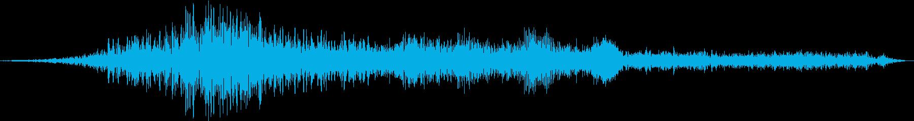 トランスポーターの室内騒音の再生済みの波形