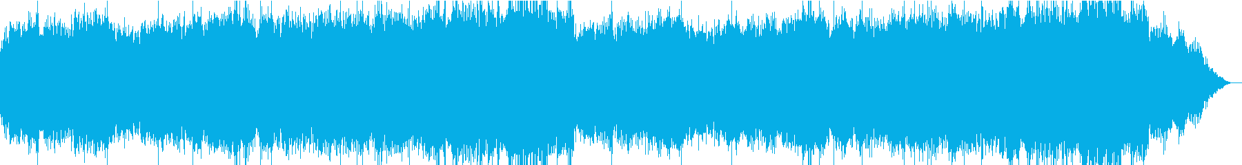 徐々に高まっていく緊張感のある曲調の再生済みの波形