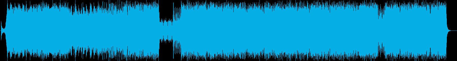 疾走感のあるオーケストラでロックなBGMの再生済みの波形