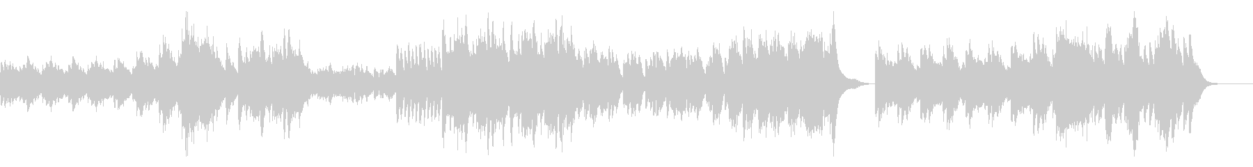 クラシカルで不気味なホラー/ピアノソロの未再生の波形