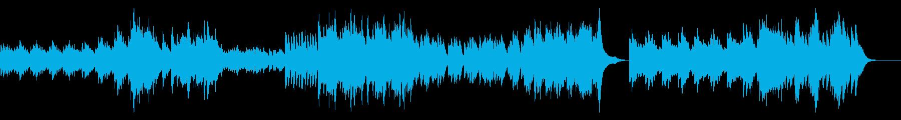 クラシカルで不気味なホラー/ピアノソロの再生済みの波形