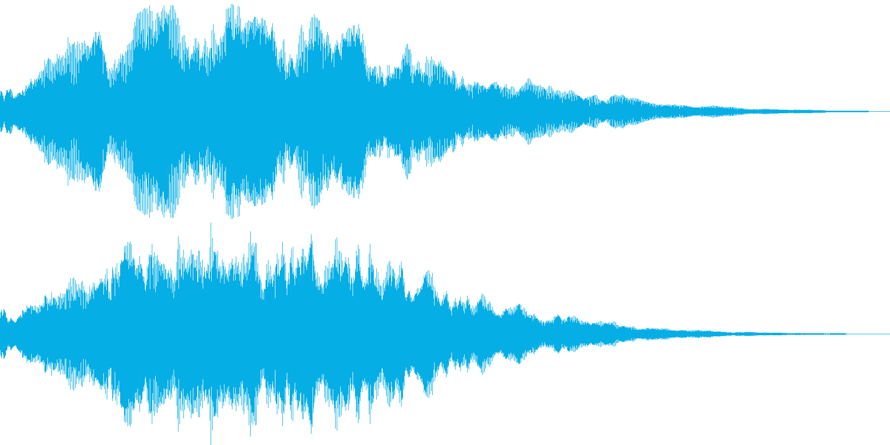 始まりの再生済みの波形