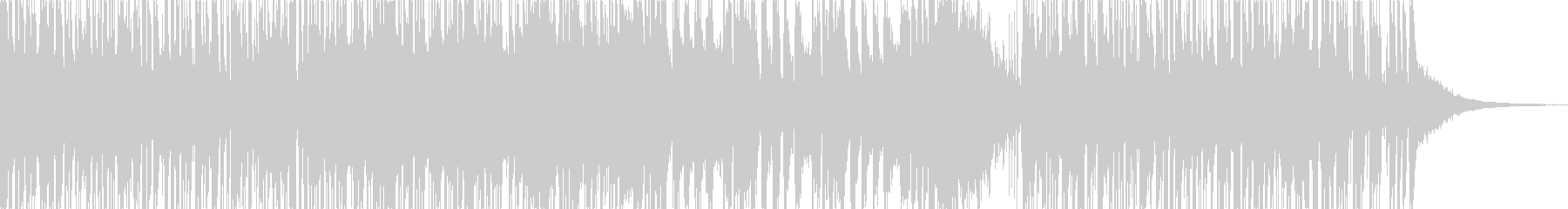 トランペットが印象的なファンクの未再生の波形