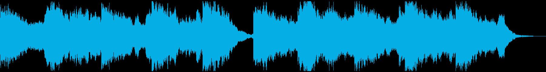 ギターハーモニクスの真剣な雰囲気の劇伴bの再生済みの波形