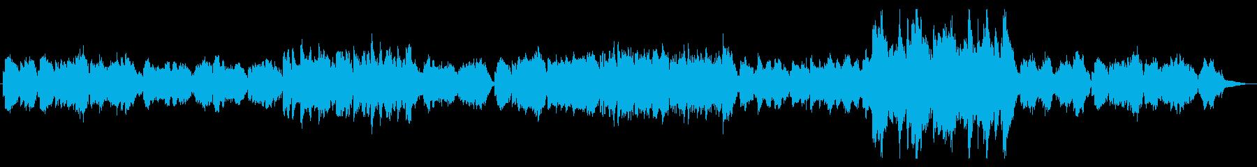 和風で癒し系バイオリンの再生済みの波形