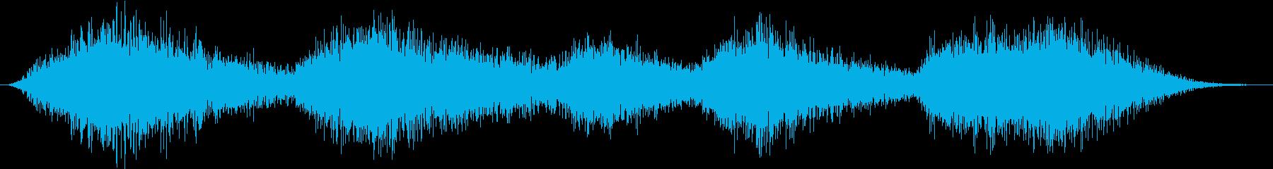 スペース7の噴出の再生済みの波形