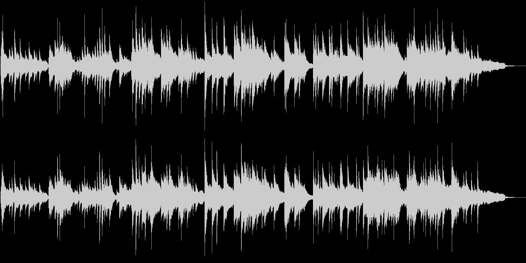 優しい旋律のピアノソロバラードの未再生の波形
