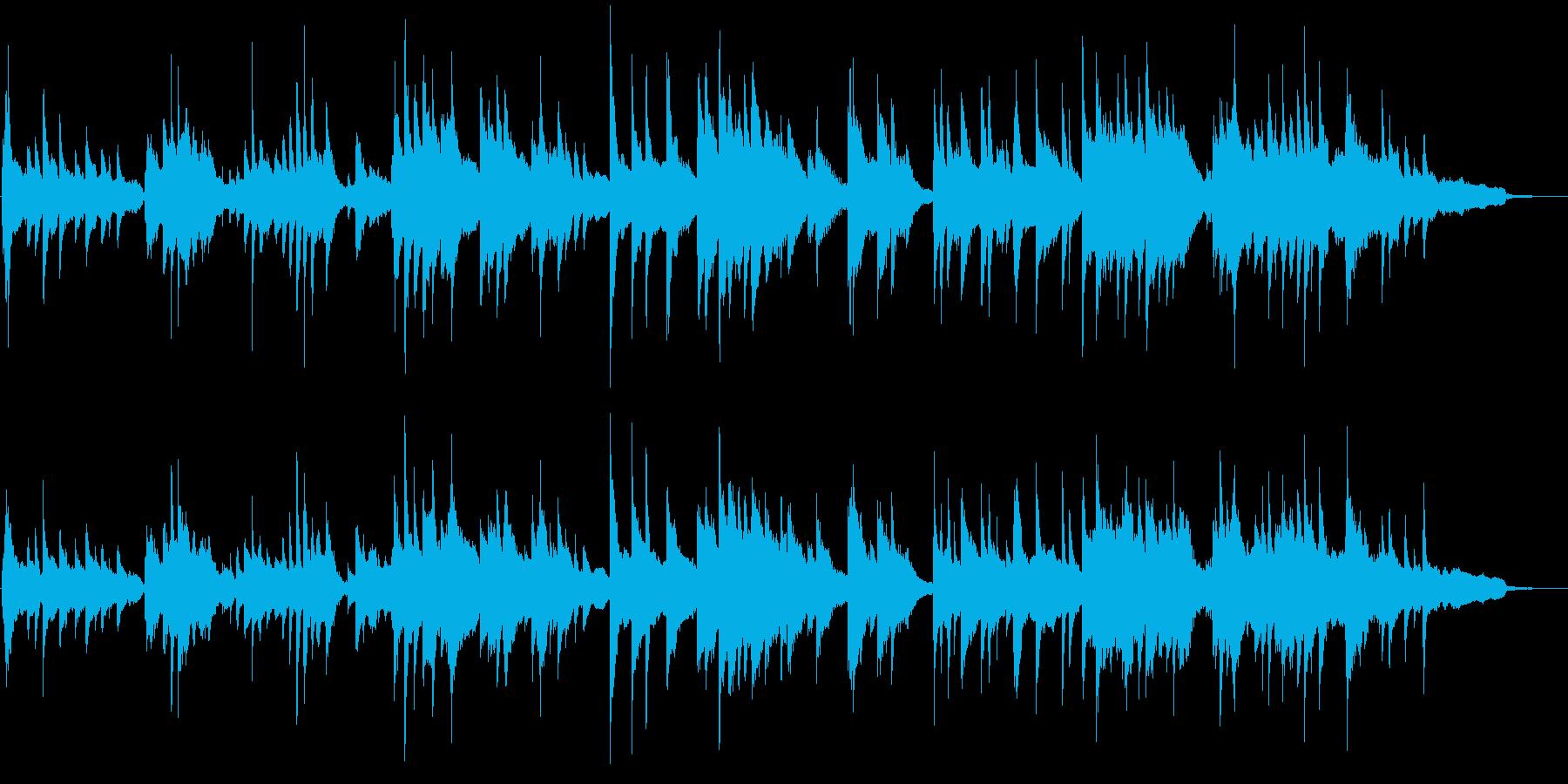 優しい旋律のピアノソロバラードの再生済みの波形