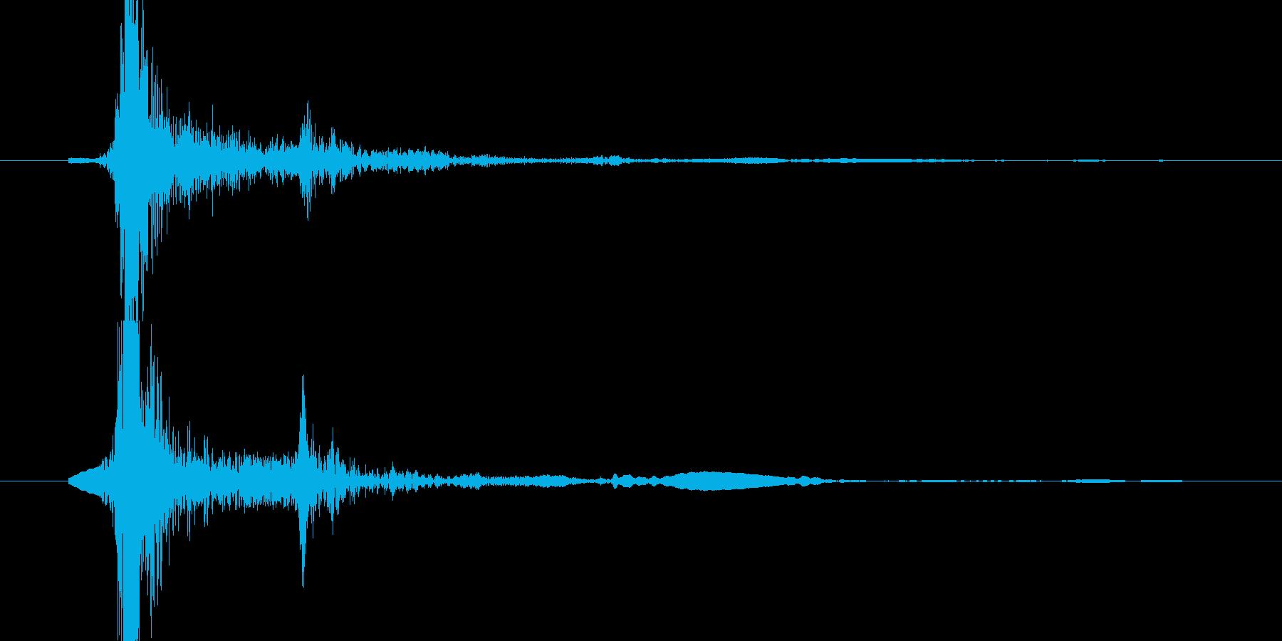 キーボード(ッターン!とEnterキー)の再生済みの波形