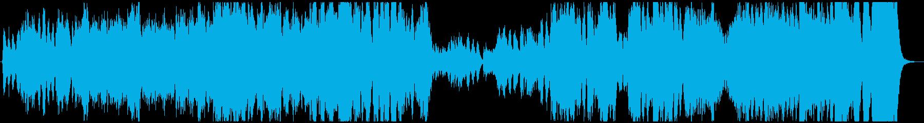 クラシック風の明るい弦楽器の曲の再生済みの波形