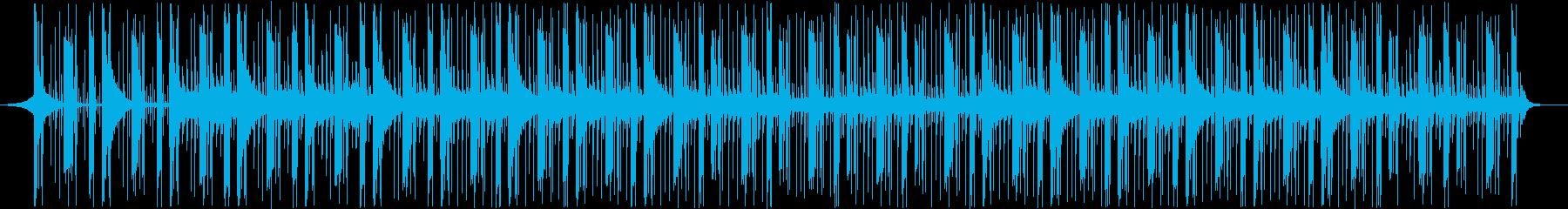 情報処理BGMの再生済みの波形