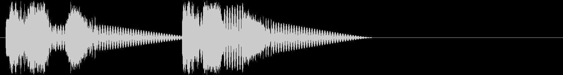 ロボットサウンド 機械音6 ロボが動く音の未再生の波形