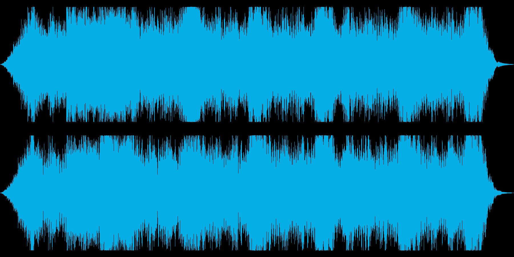 緊張感のある弦楽四重奏BGMの再生済みの波形