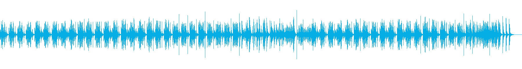 まったりと可愛い癒しの日常BGMの再生済みの波形