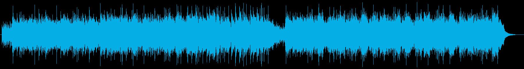 しんみりと優しいミュージックの再生済みの波形