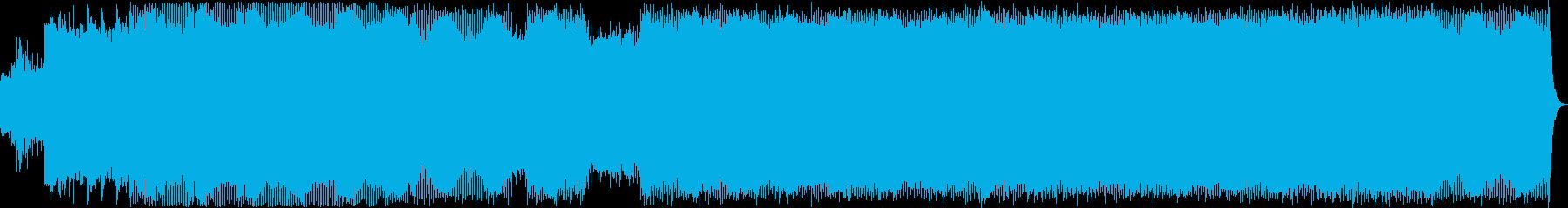 ゲームBGM用ダークなミニマルテクノの再生済みの波形