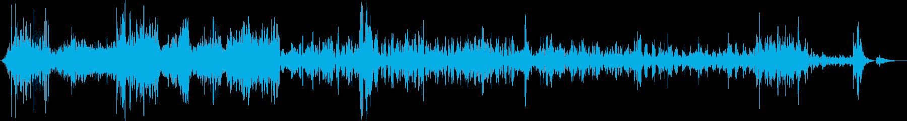 宇宙コンピューターデータ伝送ストリームの再生済みの波形