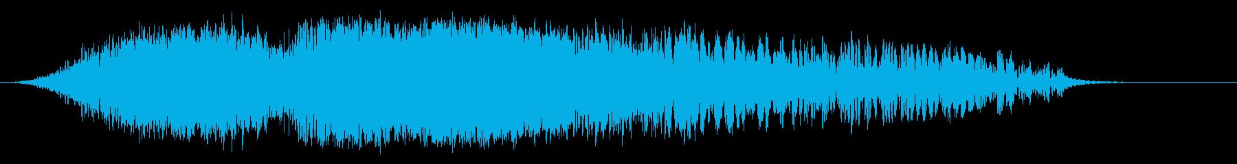 低中空スイープの再生済みの波形