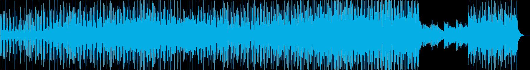 ベースをメインにしたシリアスなテクノの再生済みの波形