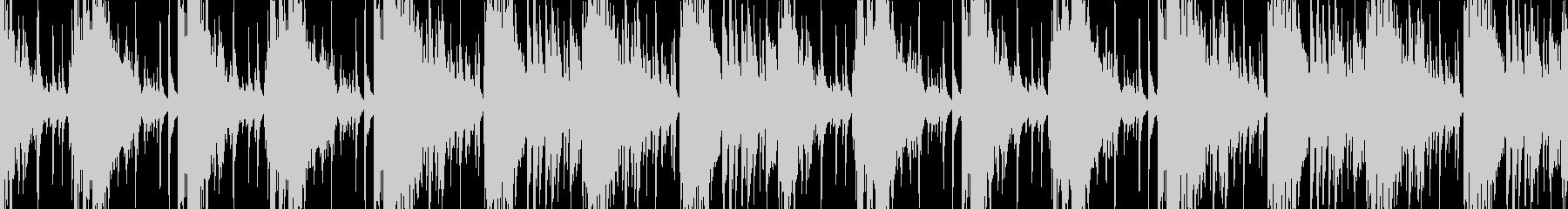 緊迫した状況に適した金属的なBGMの未再生の波形