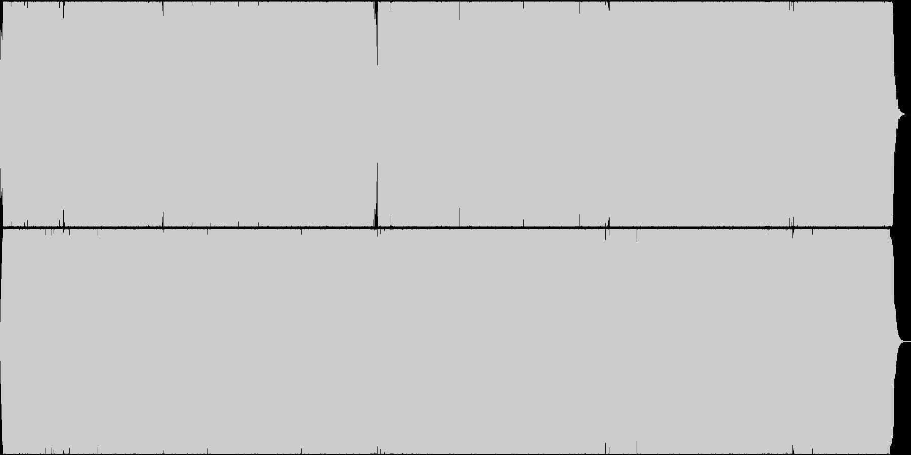 二胡(生演奏) 疾走感のある曲の未再生の波形