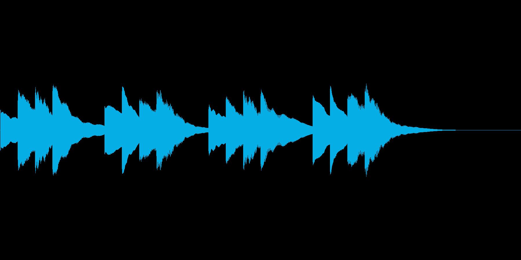 学校のチャイムの効果音の再生済みの波形