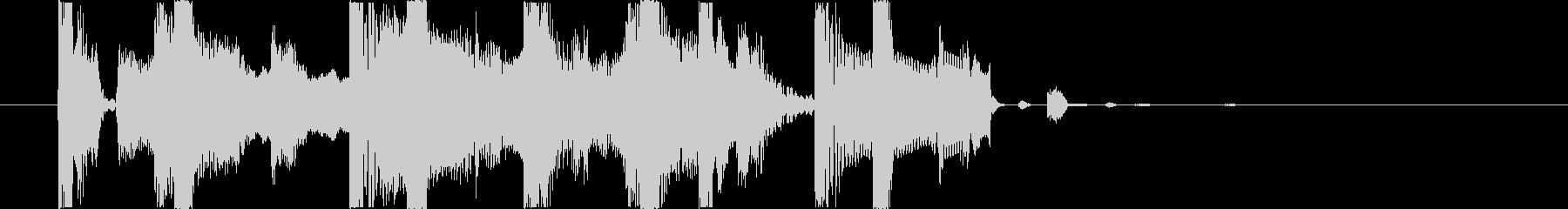 ムーディーなジャズフルートのジングルの未再生の波形