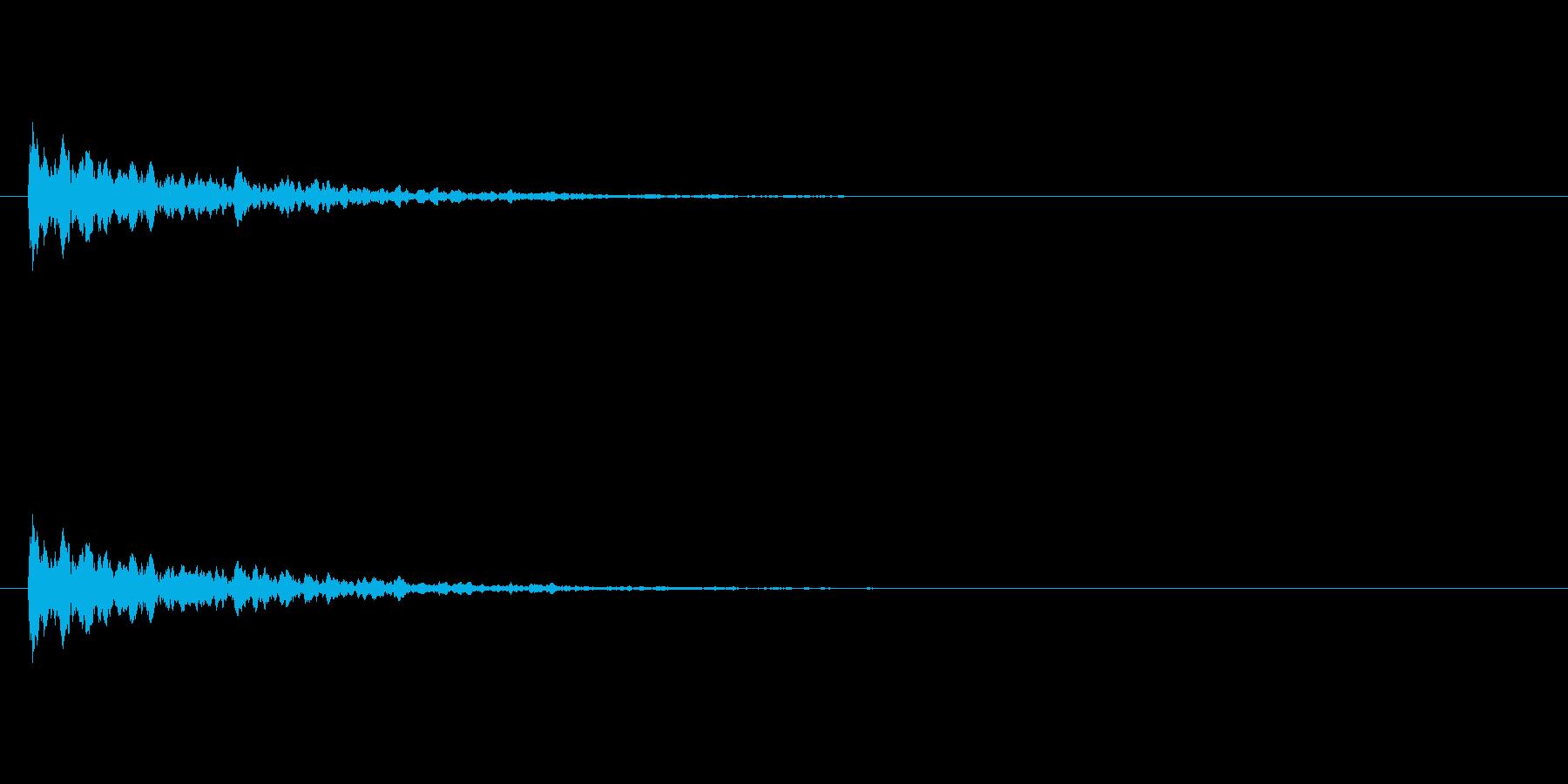 【アクセント09-2】の再生済みの波形