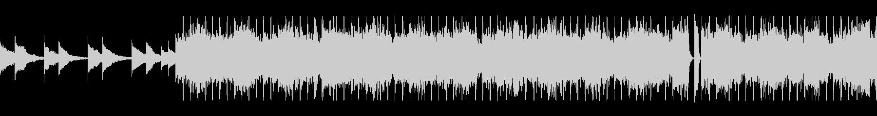 オルゴールが流れるホラーBGMの未再生の波形