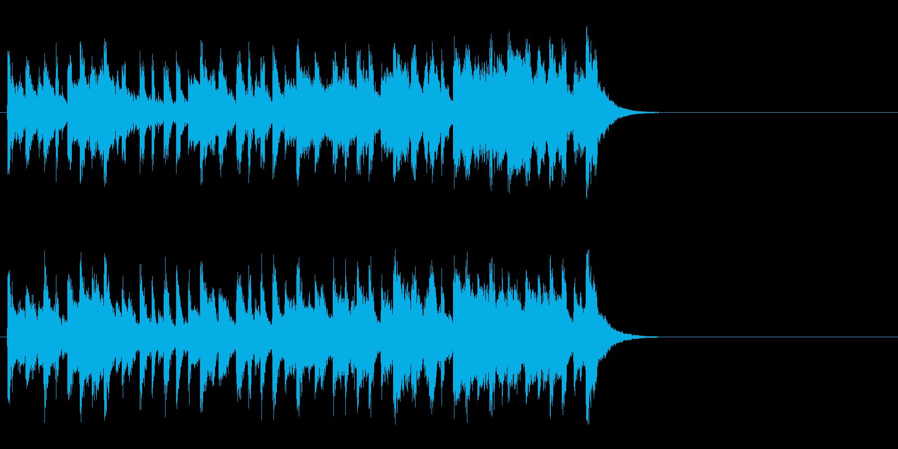 陽気なカントリー風ポップ(Aメロ)の再生済みの波形