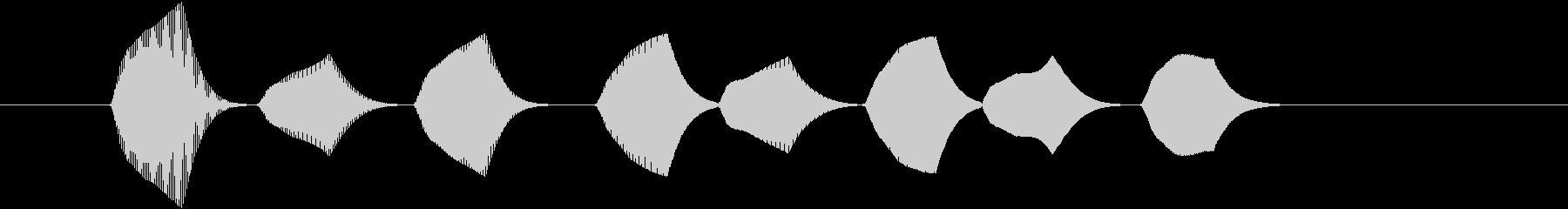 ピロリロ①(場面転換・テロップ・上昇音)の未再生の波形