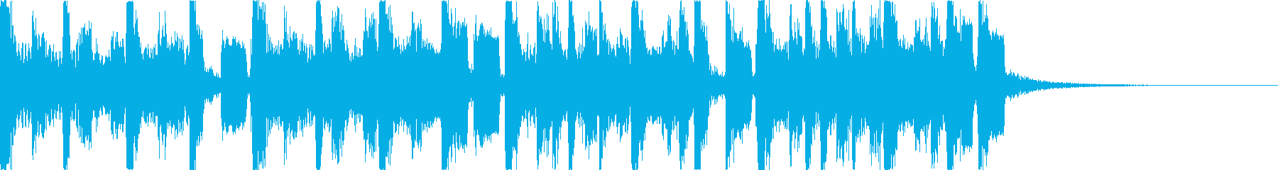 軽快・幻想的スタイリッシュEDMジングルの再生済みの波形