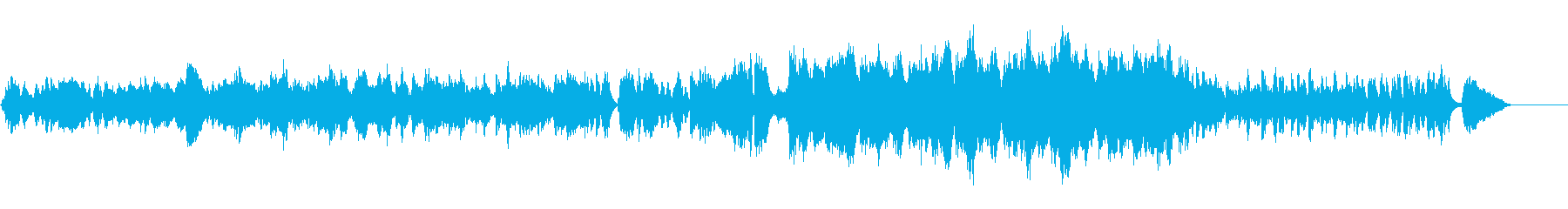 ゆったりとした一日の始まりBGMの再生済みの波形