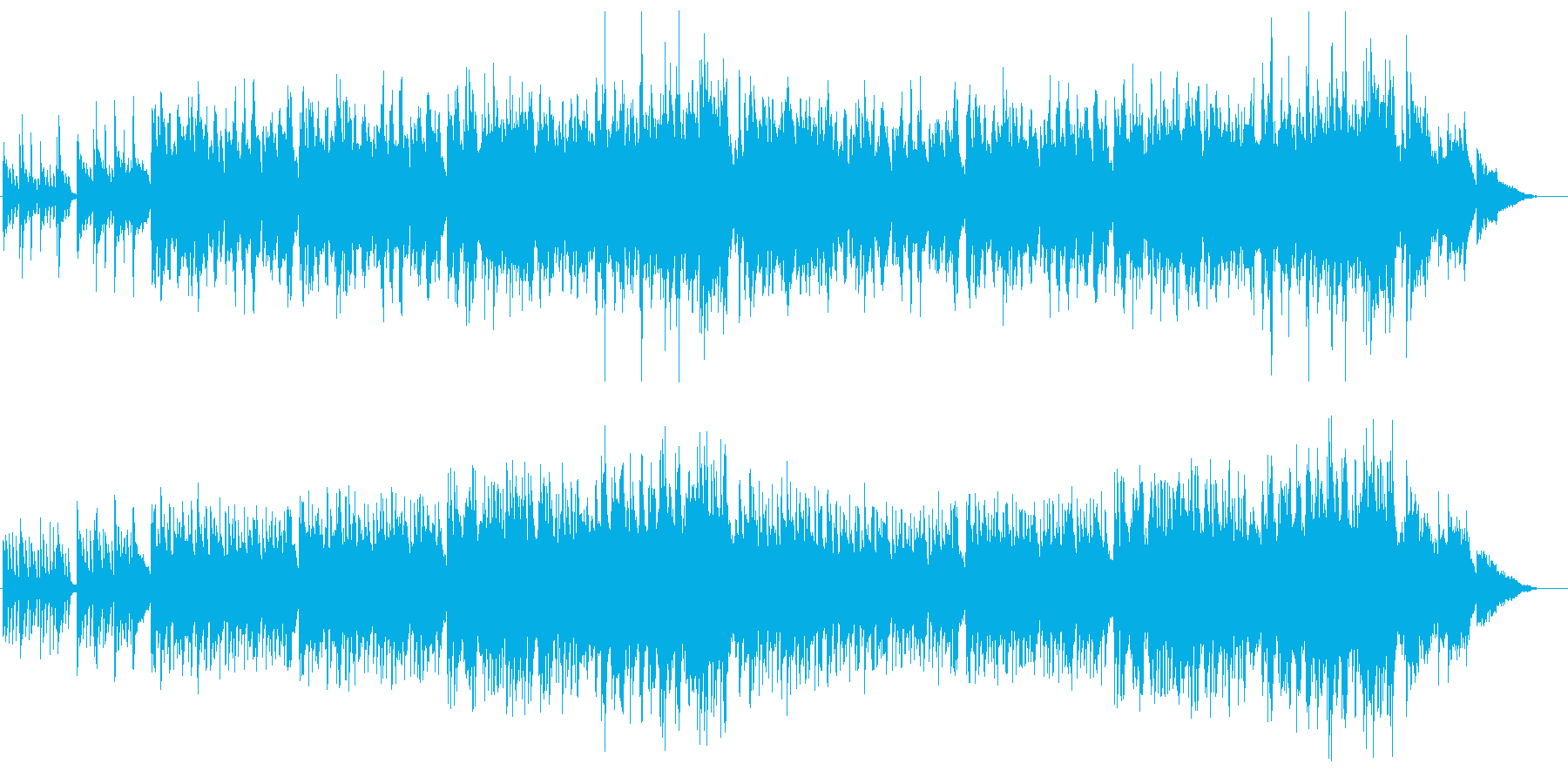 美しいピアノと弦の感動的なバラードの再生済みの波形