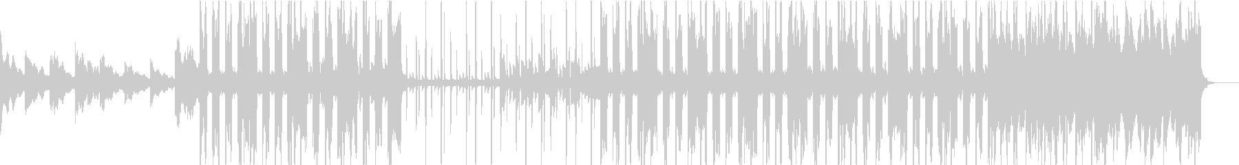 エレクトリックピアノのシティポップの未再生の波形