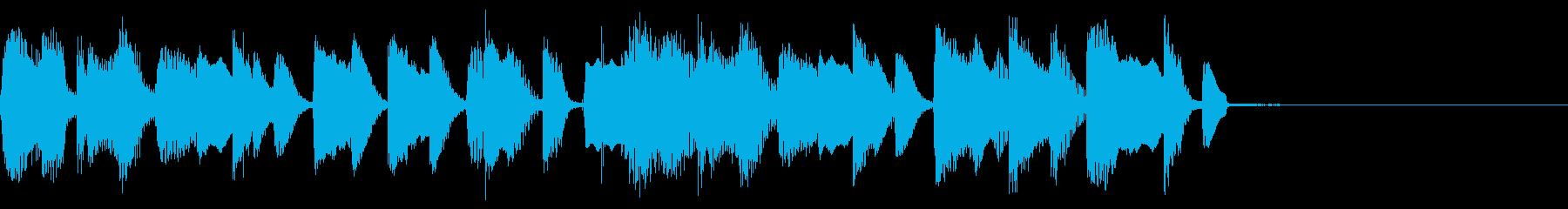 幻想的ドキドキミステリアスEDMジングルの再生済みの波形