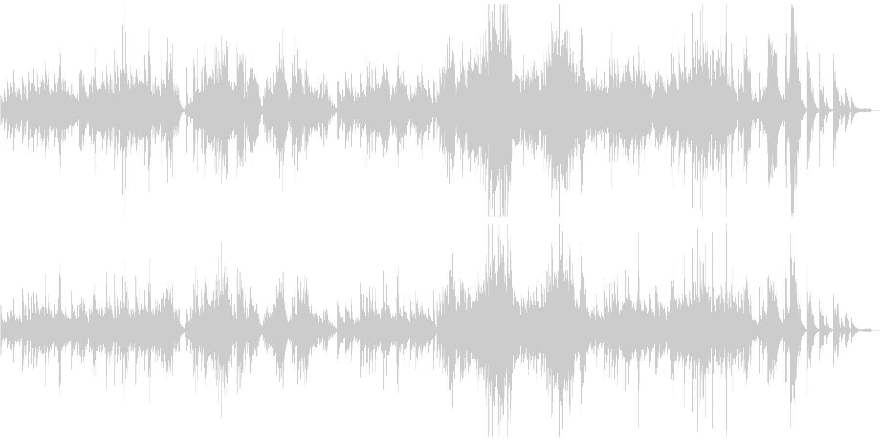 ベートーベンピアノソナタ悲愴2楽章原曲の未再生の波形