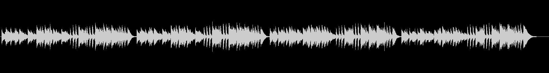 クラシックピアノ、チェルニーNo.8の未再生の波形