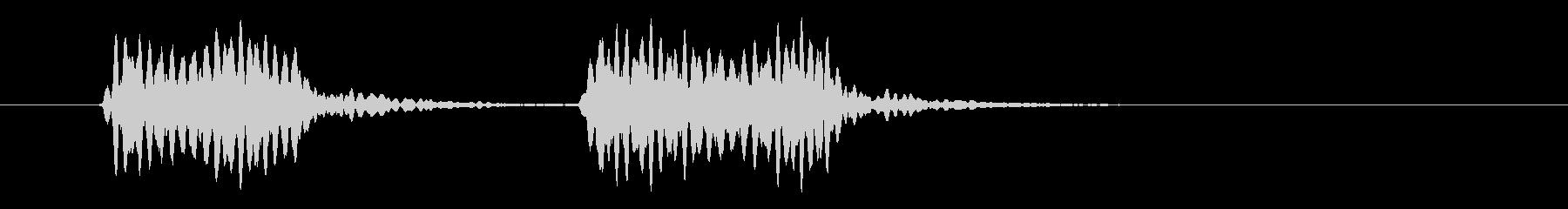 フォックス40レフリーホイッスル:...の未再生の波形
