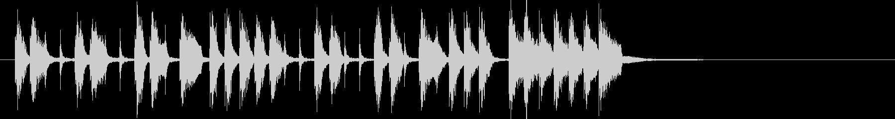 三味線や鼓による渋いブルーノート和楽の未再生の波形
