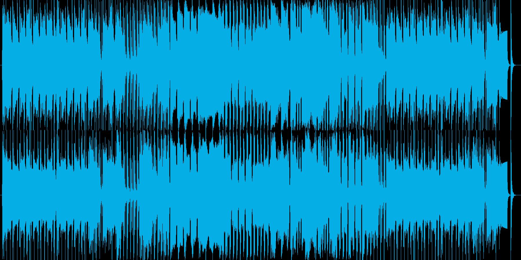 ピアニカとリコーダーでのんびり系BGMの再生済みの波形