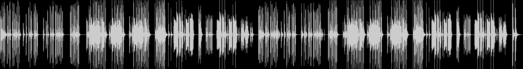 コミカルで温かみのあるおどけた曲の未再生の波形