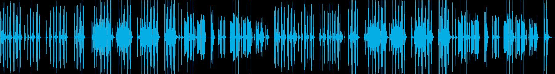 コミカルで温かみのあるおどけた曲の再生済みの波形