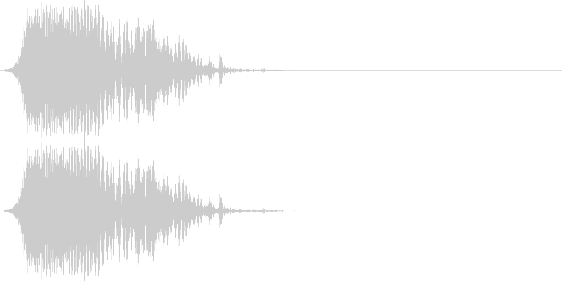 斬撃音(刀や剣で斬る/刺す効果音)10cの未再生の波形