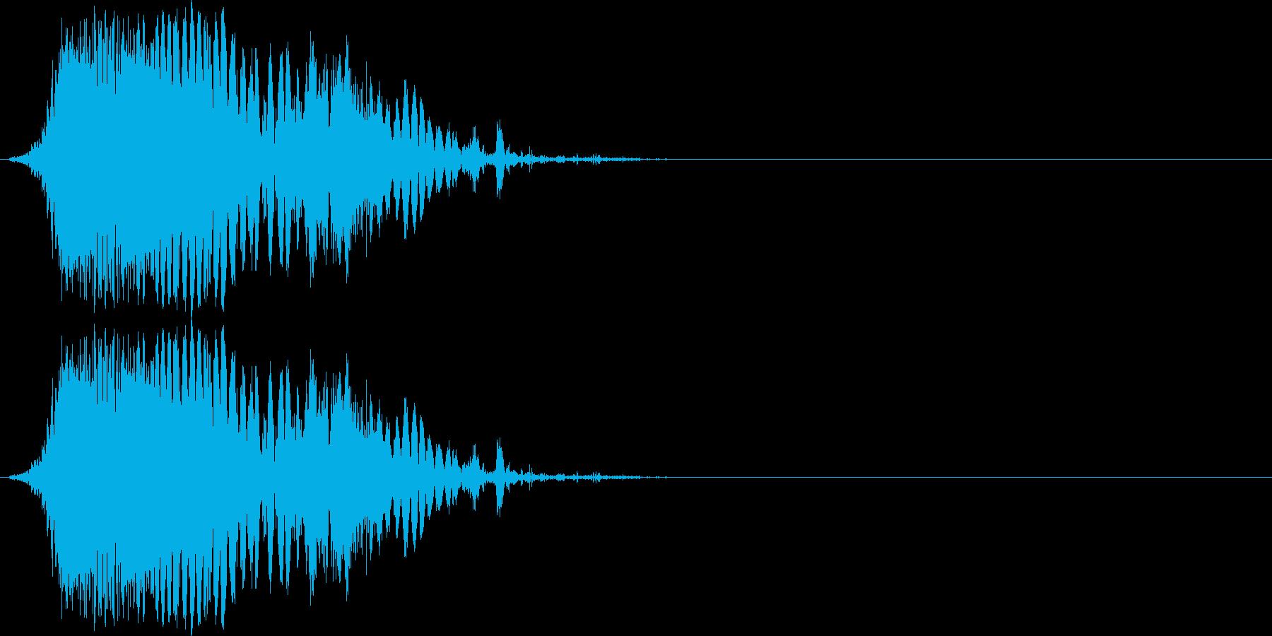 斬撃音(刀や剣で斬る/刺す効果音)10cの再生済みの波形
